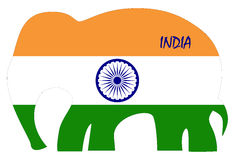 Abstract flag of India Stock Photos