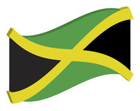Abstract Flag of Jamaica Royalty Free Stock Images
