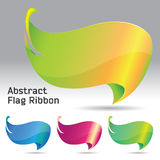 Abstract Flag Ribbon Stock Photography