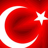 Abstract Flag of Turkey Backgroung A moon with a star on a red background Theme of the Turkish flag on the national holiday stock illustration