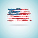 Abstract Flag of US Royalty Free Stock Photo