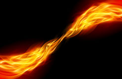 Abstract Flame. Flame tail in Space for You design on black Royalty Free Stock Images