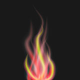Abstract flame on black background. Eps10 Royalty Free Stock Photo