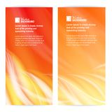 Abstract flame card. Vector illustration, contains transparencies, gradients and effects Stock Photos