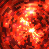 Abstract flame round mosaic background. Vector illustration Royalty Free Stock Photos