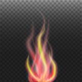 Abstract flame on transparent background. Eps10 Royalty Free Stock Images