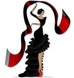Abstract flamenco met sjaal Stock Fotografie