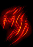 Abstract flames. Background on black Royalty Free Stock Images