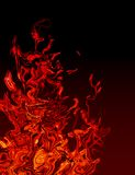 Abstract Flames. Orange and red abstract of flames on black Royalty Free Stock Photography