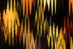 Abstract flames. Abstract background with yellow and orange shapes looking like flames on the black Stock Image