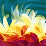 Abstract Flames. Abstract flame or leaf design created in a fractal program Stock Photo