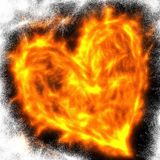 Abstract Flaming Love Heart Stock Image