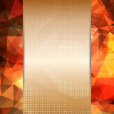 Abstract flaming red card or invitation template. Royalty Free Stock Images