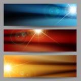Abstract Flare Bright Shiny Banner Set Royalty Free Stock Photos