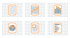 Abstract flat color icon set for Stock Photo