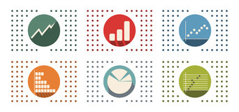Abstract flat color icon set for Stock Photography