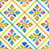 Abstract flat colorful seamless pattern Royalty Free Stock Photos
