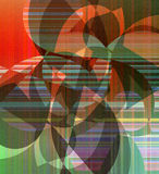 Abstract flat decorative artwork Stock Photography