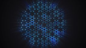 Abstract flat hexagon technology. Background pattern royalty free illustration