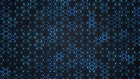 Abstract flat hexagon technology background. Pattern royalty free illustration