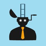 Abstract flat icon man watching movies eps Royalty Free Stock Image