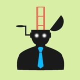 Abstract flat icon man watching movies eps Royalty Free Stock Photos