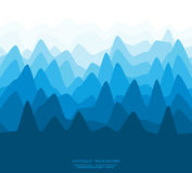 Abstract flat mountains illustration Stock Photography