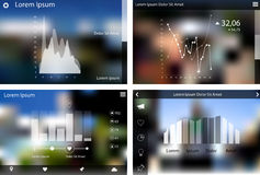 Abstract flat ui statistics templates collection Stock Images