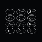 Abstract flat user interface keypad Royalty Free Stock Images