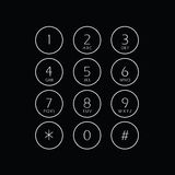 Abstract flat user interface keypad Royalty Free Stock Photos