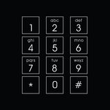 Abstract flat user interface keypad Royalty Free Stock Image