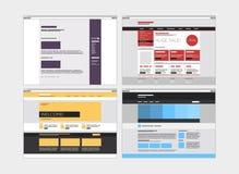 Abstract flat website set vector illustration