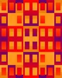 Abstract Flatgebouw stock afbeelding