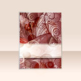 abstract flayer design Stock Photography