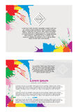 Abstract  flayer. Abstract  template design, two-sided flayers, brochure, web sites, bilateral page, leaflet, with colorful watercolor paint splash Royalty Free Stock Image
