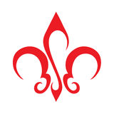 Abstract Fleur De Lis Icon Royalty Free Stock Image