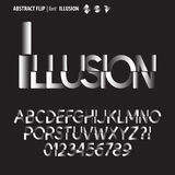 Abstract Flip Alphabet and Digit Vector Royalty Free Stock Photography
