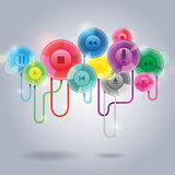 Abstract floating remote button Royalty Free Stock Images