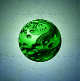 Abstract Floating Spherical Gemstone. Abstract Representation of a Floating Spherical Gemstone Stock Images