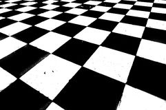 Abstract floor tiles. Black and white checkered floor Royalty Free Stock Image