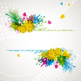Abstract flora background. Royalty Free Stock Photo