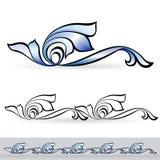 Abstract flora design element. Stock Photos