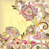Abstract Floral. Illustration of abstract floral scroll in asia style Stock Photo