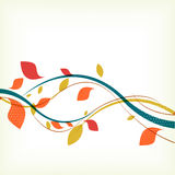 Abstract floral autumn background Stock Images