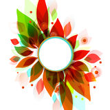 Abstract floral autumn background  with leaves Royalty Free Stock Photo