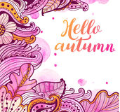 Abstract floral autumn background Royalty Free Stock Photography