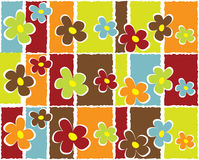 Abstract floral background. Illustration of colorfully seamless flowers that can be used as a background or wallpaper stock illustration