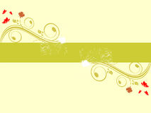 Abstract floral background. Vector illustration of a floral background Royalty Free Stock Images