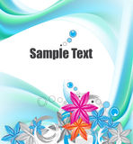 Abstract floral background. An illustration of an abstract floral background Stock Images