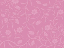 Abstract floral background. Vector abstract floral pattern on a pink background Stock Images